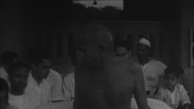 mahatma gandhi speaking to people / india - 1928 stock videos & royalty-free footage