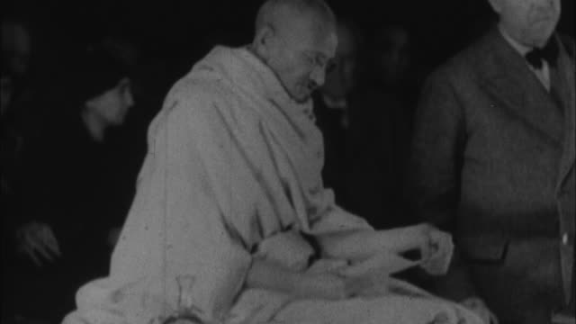 mahatma gandhi telling british people that he wants full independence for india / london, united kingdom / audio - 1931 stock videos & royalty-free footage