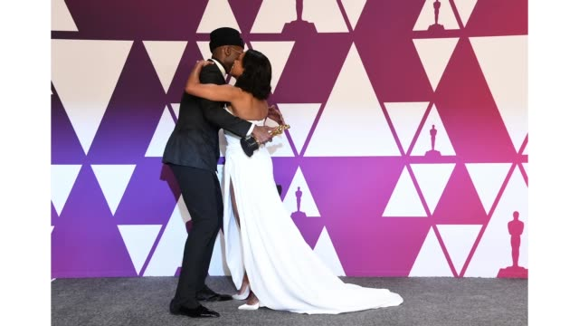 mahershala ali and regina king pose at the 91st annual academy awards at hollywood and highland on february 24 2019 in hollywood california - regina king stock videos and b-roll footage