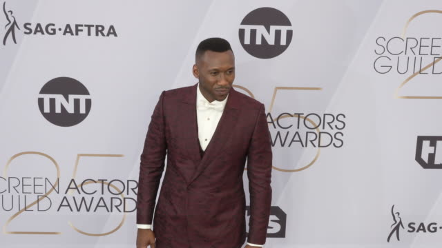 mahershala ali at the 25th annual screen actors guild awards at the shrine auditorium on january 27 2019 in los angeles california - screen actors guild awards stock videos & royalty-free footage