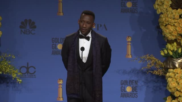 mahershala ali at the 76th annual golden globe awards press room at the beverly hilton hotel on january 06 2019 in beverly hills california - golden globe awards stock videos & royalty-free footage