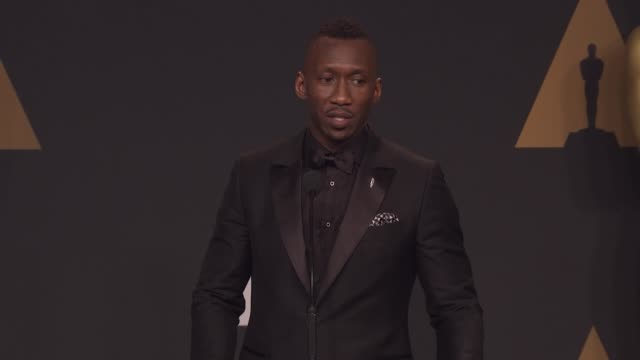 SPEECH Mahershala Ali at the 89th Annual Academy Awards Press Room at Hollywood Highland Center on February 26 2017 in Hollywood California