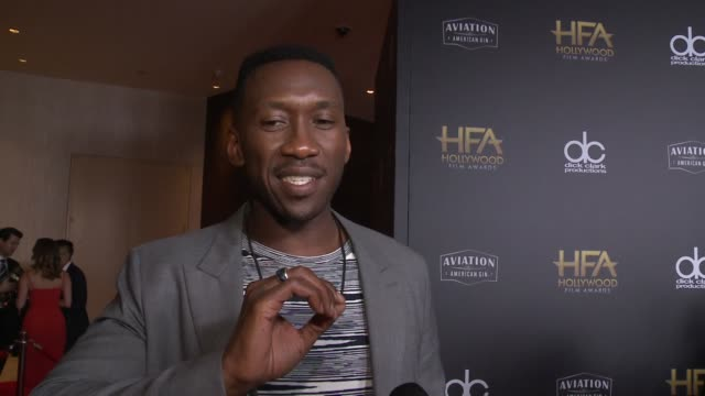 INTERVIEW Mahershala Ali on the most exciting aspects of the Hollywood Film Awards at the 22nd Annual Hollywood Film Awards at The Beverly Hilton...