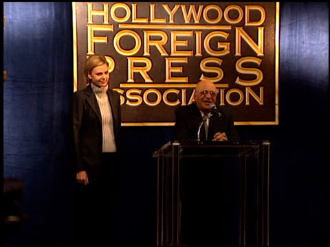 mahfouz doss at the hfpa cecil b demille award at the beverly regent hotel in beverly hills california on november 16 2000 - cecil b. demille stock videos & royalty-free footage
