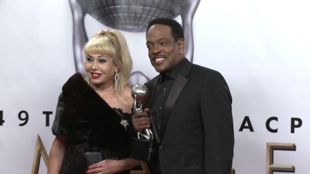 Mahin Wilson and Charlie Wilson at the 49th NAACP Image Awards at Pasadena Civic Auditorium on January 15 2018 in Pasadena California