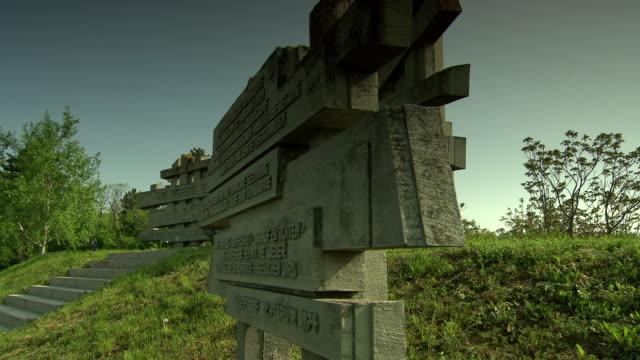 mahnmal wöllersdorf - austrian civil war memorial in wöllersdorf 02 - traditionally austrian stock videos & royalty-free footage