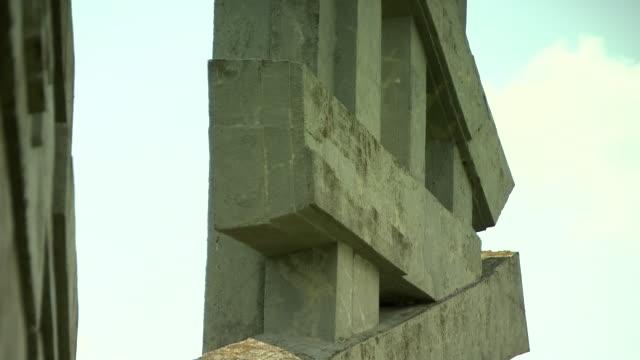 mahnmal wöllersdorf - austrian civil war memorial in wöllersdorf 05 - traditionally austrian stock videos & royalty-free footage