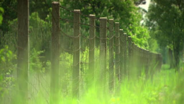 mahnmal wöllersdorf - fence at teh austrian civil war memorial in wöllersdorf - fence stock videos & royalty-free footage