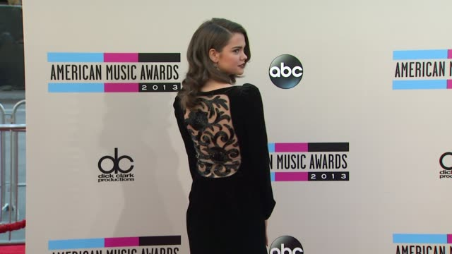 maia mitchell arrives at the 2013 american music awards arrivals - 2013 american music awards stock videos & royalty-free footage