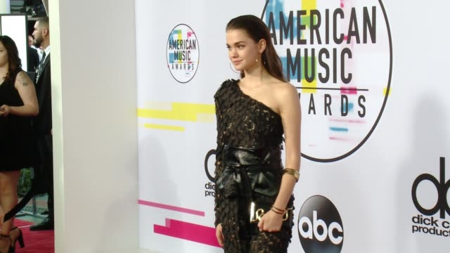 maia mitchell at 2017 american music awards on november 19 2017 in los angeles california - american music awards video stock e b–roll