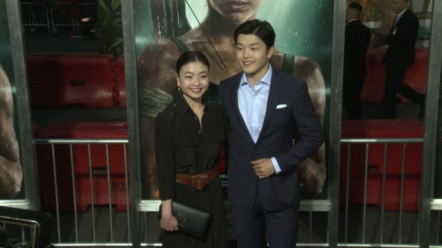 Maia Shibutani and Alex Shibutani at the 'Tomb Raider' Premiere at TCL Chinese Theatre on March 12 2018 in Hollywood California