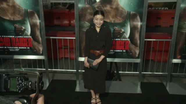 Maia Shibutani at the 'Tomb Raider' Premiere at TCL Chinese Theatre on March 12 2018 in Hollywood California