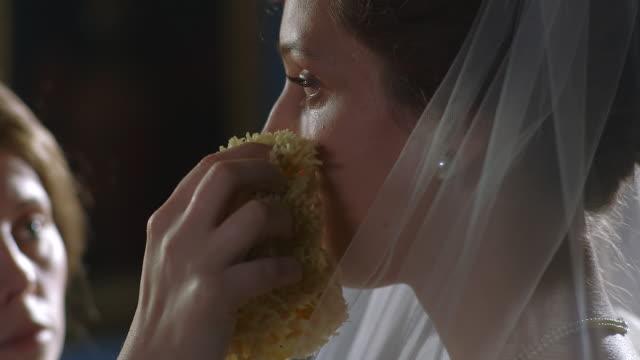 cu pan maid wiping tears on consuelo vanderbilts face / united kingdom - teardrop stock videos and b-roll footage