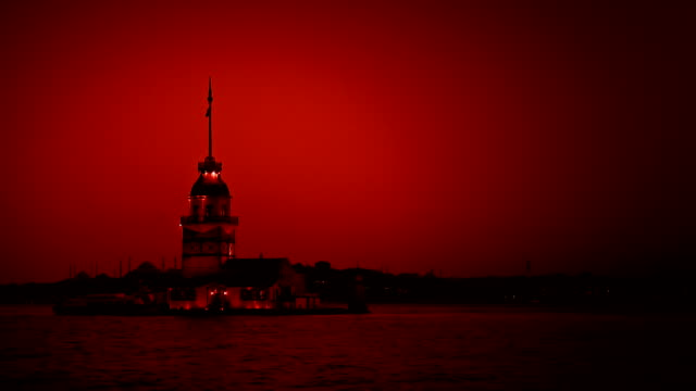 maiden tower (red) - ottoman stock videos and b-roll footage