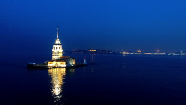 maiden's tower - 1 - bosphorus stock videos & royalty-free footage