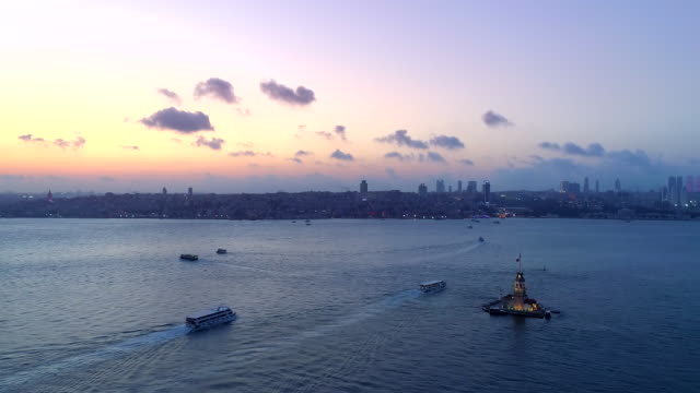 maiden's tower in istanbul - yeni cami mosque stock videos & royalty-free footage