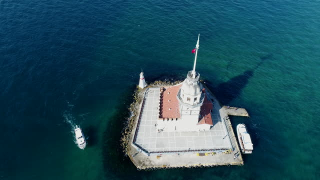 maiden's tower in istanbul - turkey stock videos and b-roll footage