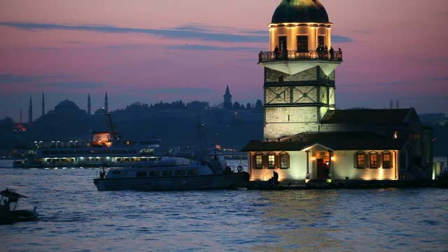 maiden's tower istanbul - istanbul stock videos and b-roll footage