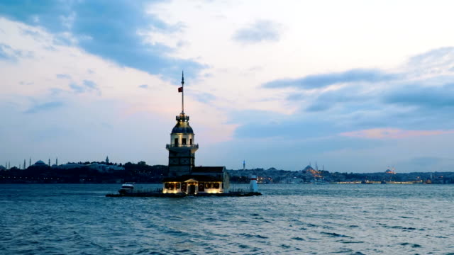 4k: maiden's tower, time lapse - topkapi palace stock videos and b-roll footage