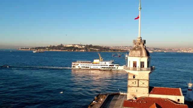 vidéos et rushes de tour de léandre - drapeau turc