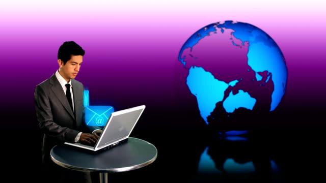 世界中の e メール - e mail点の映像素材/bロール