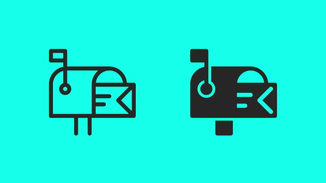 mail box icons - vector animate - letterbox stock videos & royalty-free footage