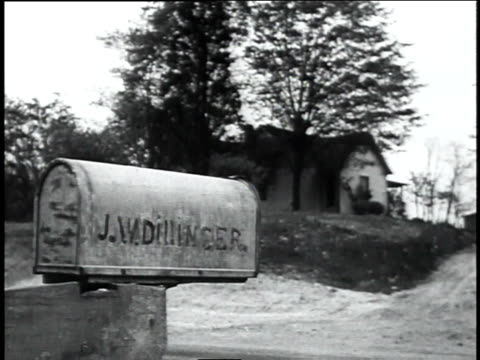 cu mail box of john dillinger sr / indiana united states - bankräuber stock-videos und b-roll-filmmaterial