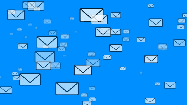 mail flying (email envelopes) - e mail stock videos & royalty-free footage