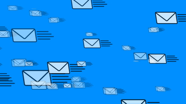 mail flying (email envelopes) - large group of objects stock videos & royalty-free footage