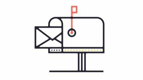 mailbox icon animation - letterbox stock videos & royalty-free footage