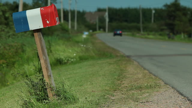 mailbox on the roadside with the color of acadia - natural parkland stock videos & royalty-free footage