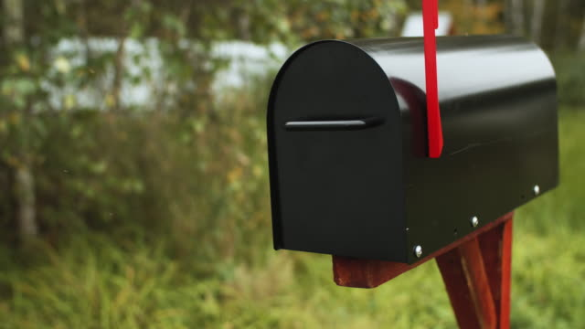 mailbox outdoors in summer - letterbox stock videos & royalty-free footage