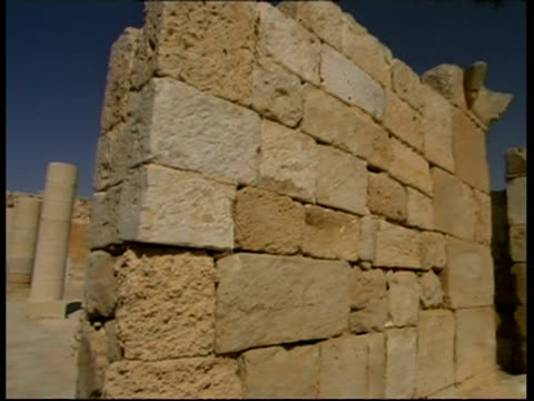 vídeos de stock e filmes b-roll de main church, beginning of christianity in nabataean city ovdat, israel - antiguidades