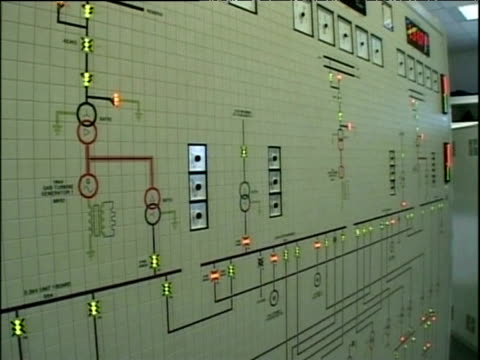 main control board inside nuclear power station corby - electricity stock videos & royalty-free footage