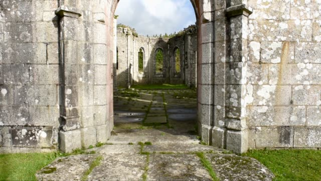 main entrance, chapelle sainte barbe-berrien - imperfection stock videos & royalty-free footage