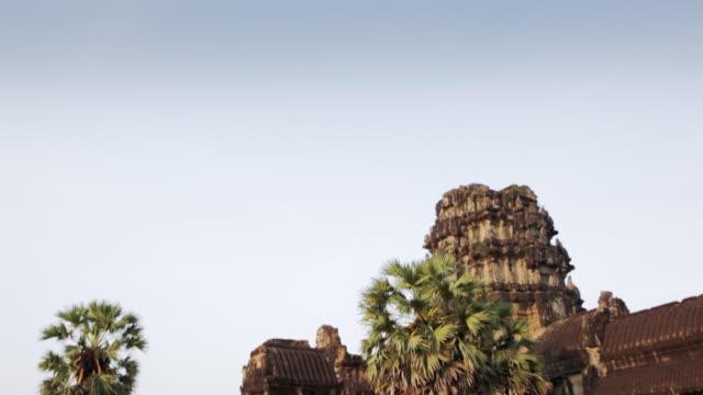 WS, TD Main entrance of Angkor Wat temple / Siem Reap, Cambodia