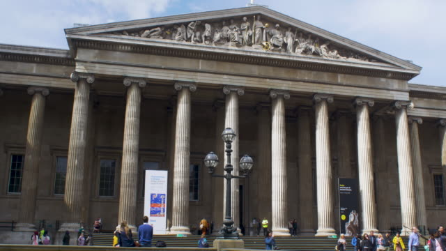 main facade of the british museum - british museum stock videos & royalty-free footage