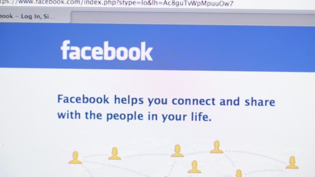 Main facebook page / fast transitions of website opening Facebook website on April 16 2012 in New York New York