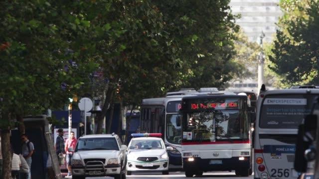"""Main street """"18 de Julio"""" in Montevideo downtown"""