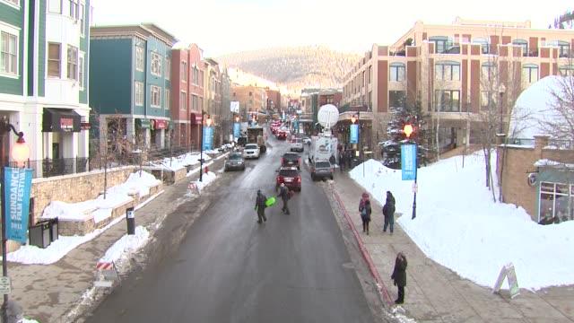 Main Street at the Atmosphere 2011 Sundance Film Festival at Park City UT