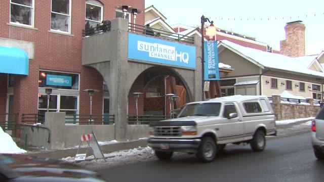 main street at the atmosphere 2011 sundance film festival at park city ut - park city stock videos & royalty-free footage