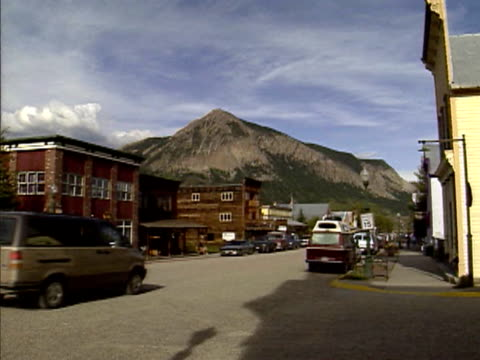 Main street in Crested Butte, Colorado, Mt. Crested Butte in background