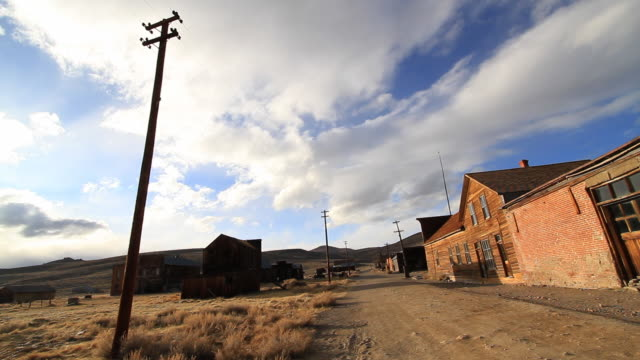 main street in ghost town - bad condition stock videos & royalty-free footage