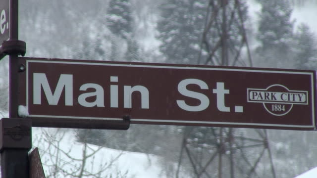 CU Main Street Sign / Park City, Utah, USA