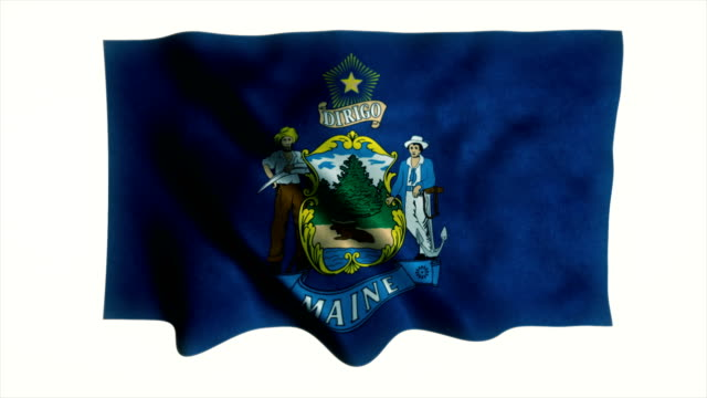 maine flag - country geographic area stock videos and b-roll footage