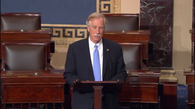 maine senator angus king recounts a frightening cyberattack on the energy gird of ukraine, saying that he has heard repeated warnings from every... - ukraine stock-videos und b-roll-filmmaterial