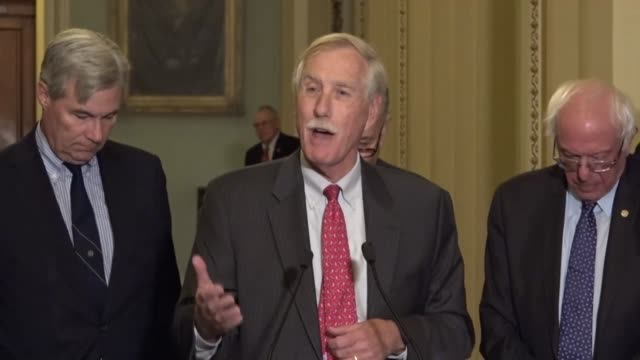 maine senator angus king says at a weekly press briefing that federal spending projected increases are based on current projections of healthcare... - medicaid stock videos and b-roll footage