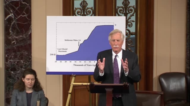 maine senator angus king says during a discussion of climate change that the displacement of people is a national security issue being ignored during... - western europe stock videos & royalty-free footage