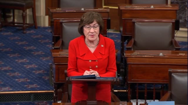 maine senator susan collins says on day 26 of a partial government shutdown that shutdowns are never the answer no matter how difficult the problem... - day26 stock videos & royalty-free footage