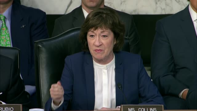 maine senator susan collins tells cia director nominee gina haspel at her nomination hearing that president donald trump had expressed support for... - waterboarding stock videos & royalty-free footage